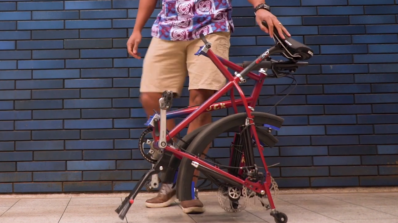 tuck bike the first foldable bike with foldable wheels